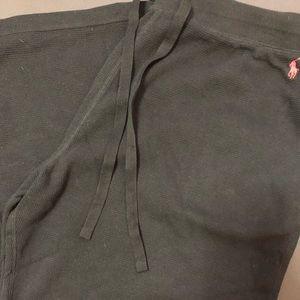 Polo by Ralph Lauren Pants - Black Polo Ralph Lauren Pajama Pants Waffle Knit